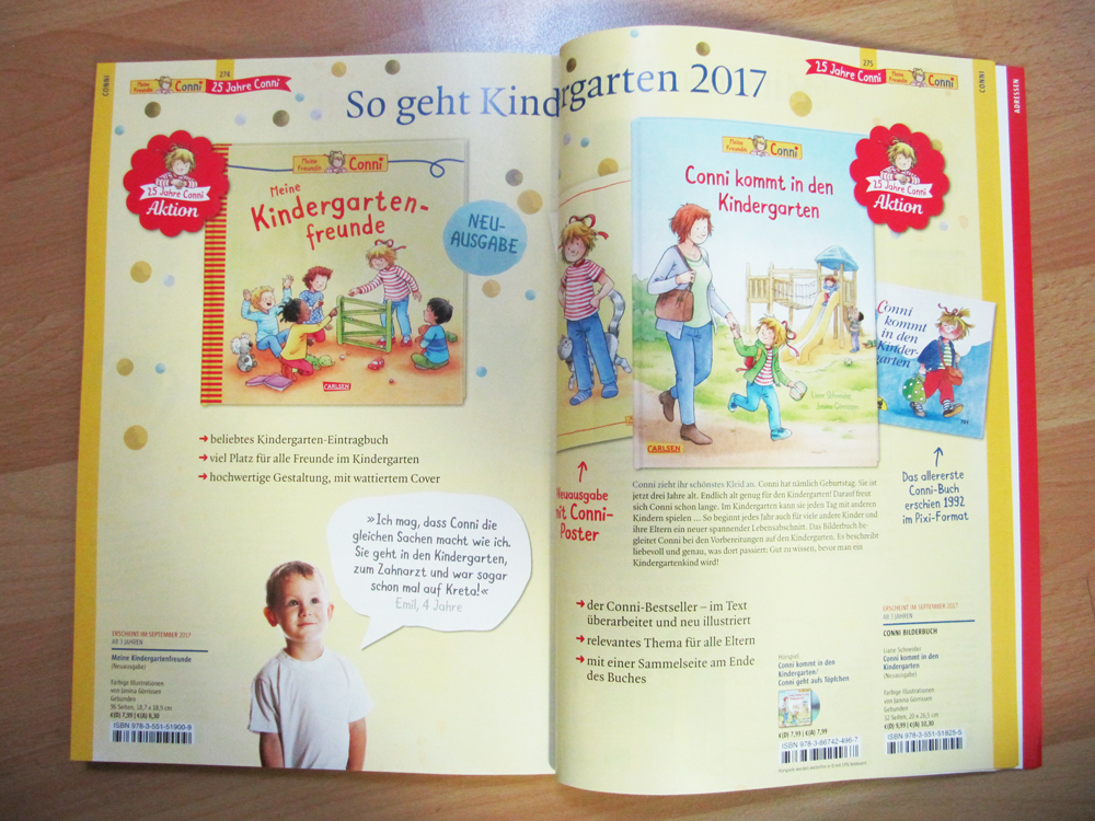 There will also be a friendship book to accompany 'Conni goes to kindergarten'.