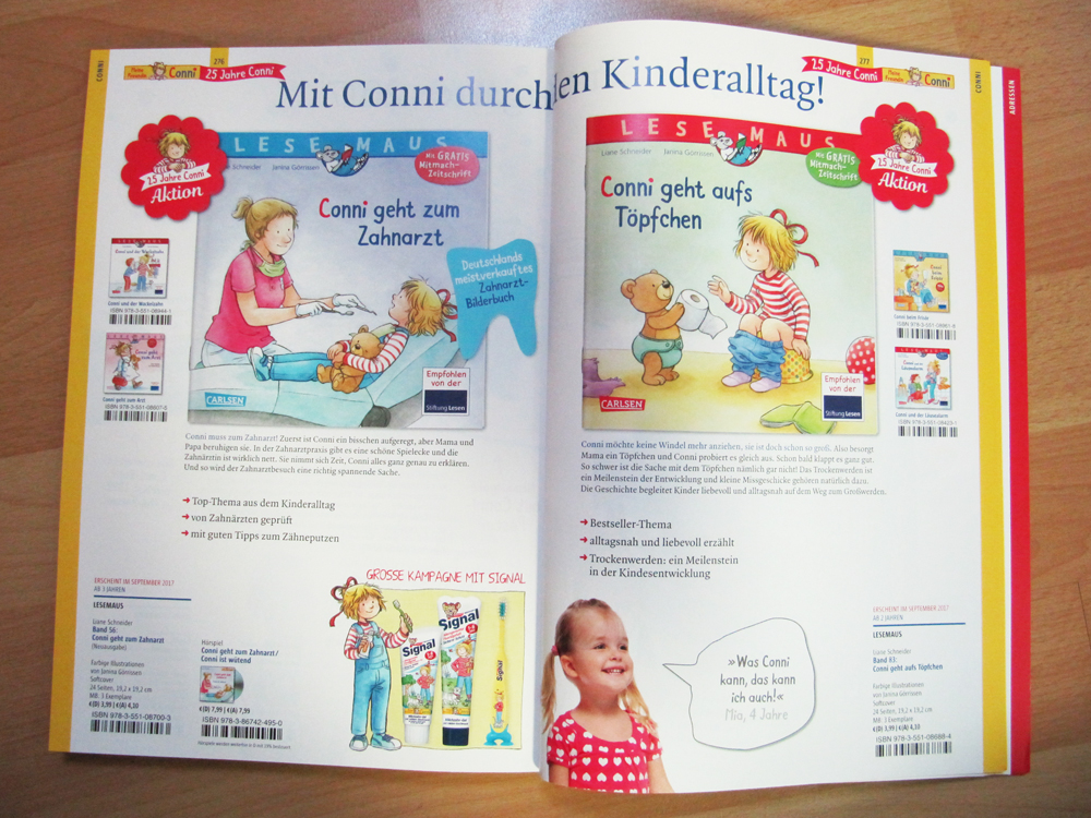 'Conni geht zum Zahnarzt' and 'Conni geht aufs Töpfchen'.