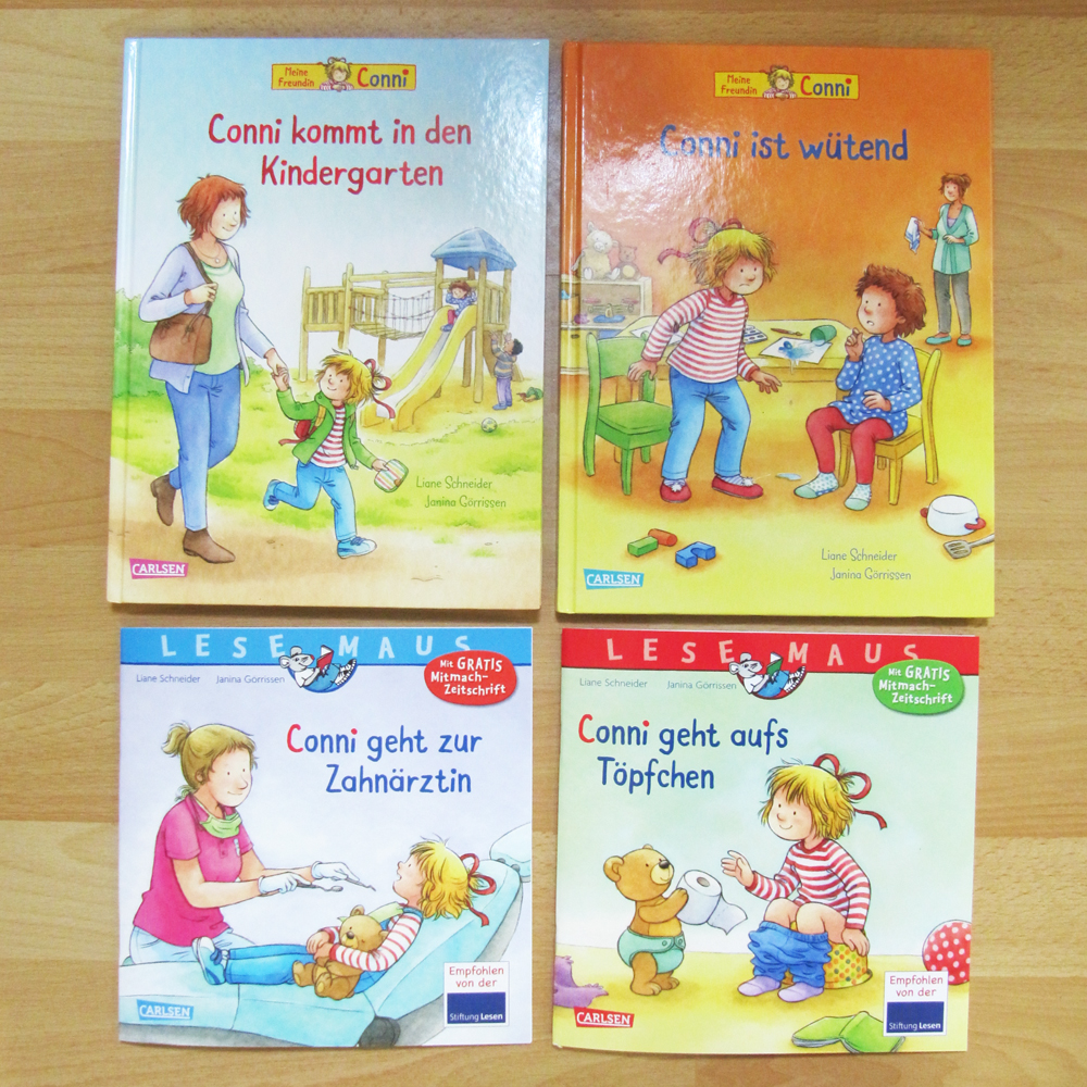 The 4 new Conni books that just came out.