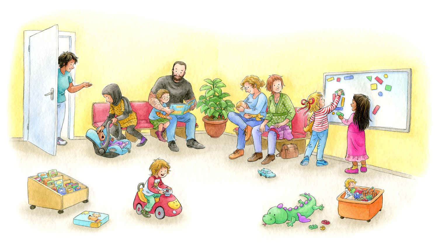 Sample page from 'Conni goes to the pediatrician'