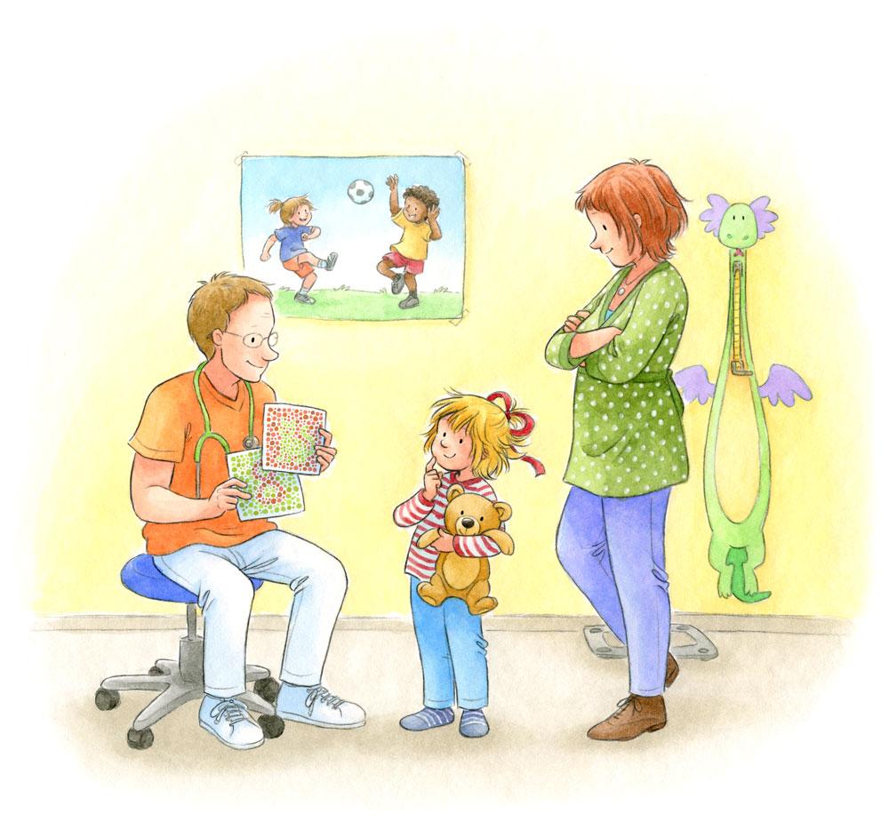 Beispielseite aus 'Conni geht zum Kinderarzt'