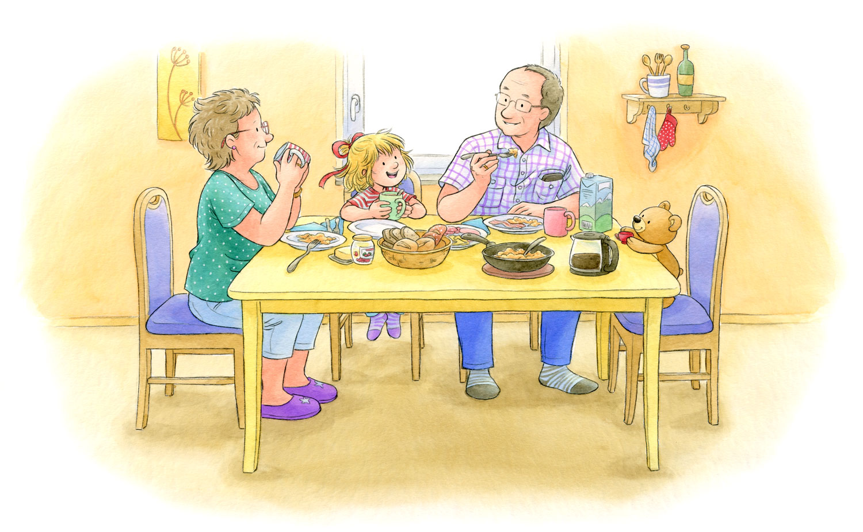 Sample page from 'Conni visits grandma and grandpa