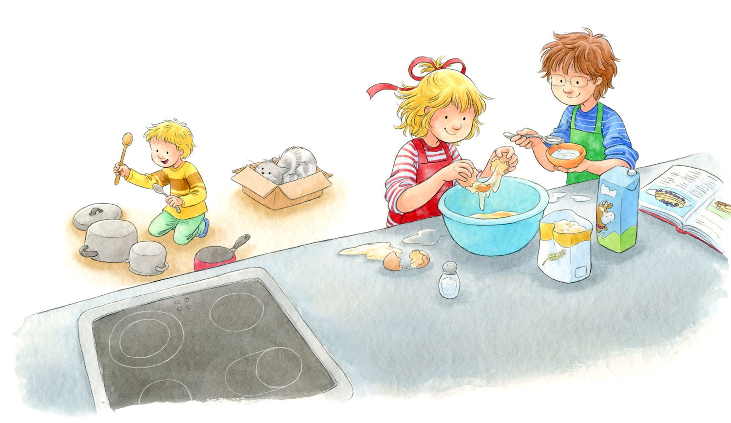 Sample page from 'Conni makes pancakes'